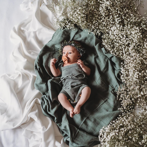 Soft Moss Swaddle