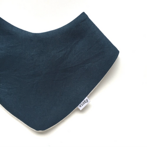 Linen Lovely Teal Dribble Bib