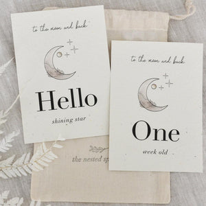 'Luna' Eco-Friendly Baby Milestone Cards