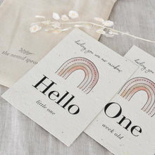 Load image into Gallery viewer, 'Rainbow' Eco-Friendly Baby Milestone Cards