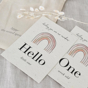 'Rainbow' Eco-Friendly Baby Milestone Cards