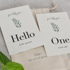 'Grow' Eco-Friendly Baby Milestone Cards