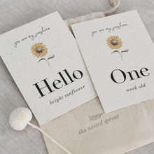 Load image into Gallery viewer, 'Sunflower' Eco-Friendly Baby Milestone Cards