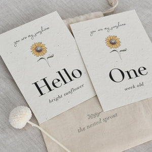 'Sunflower' Eco-Friendly Baby Milestone Cards