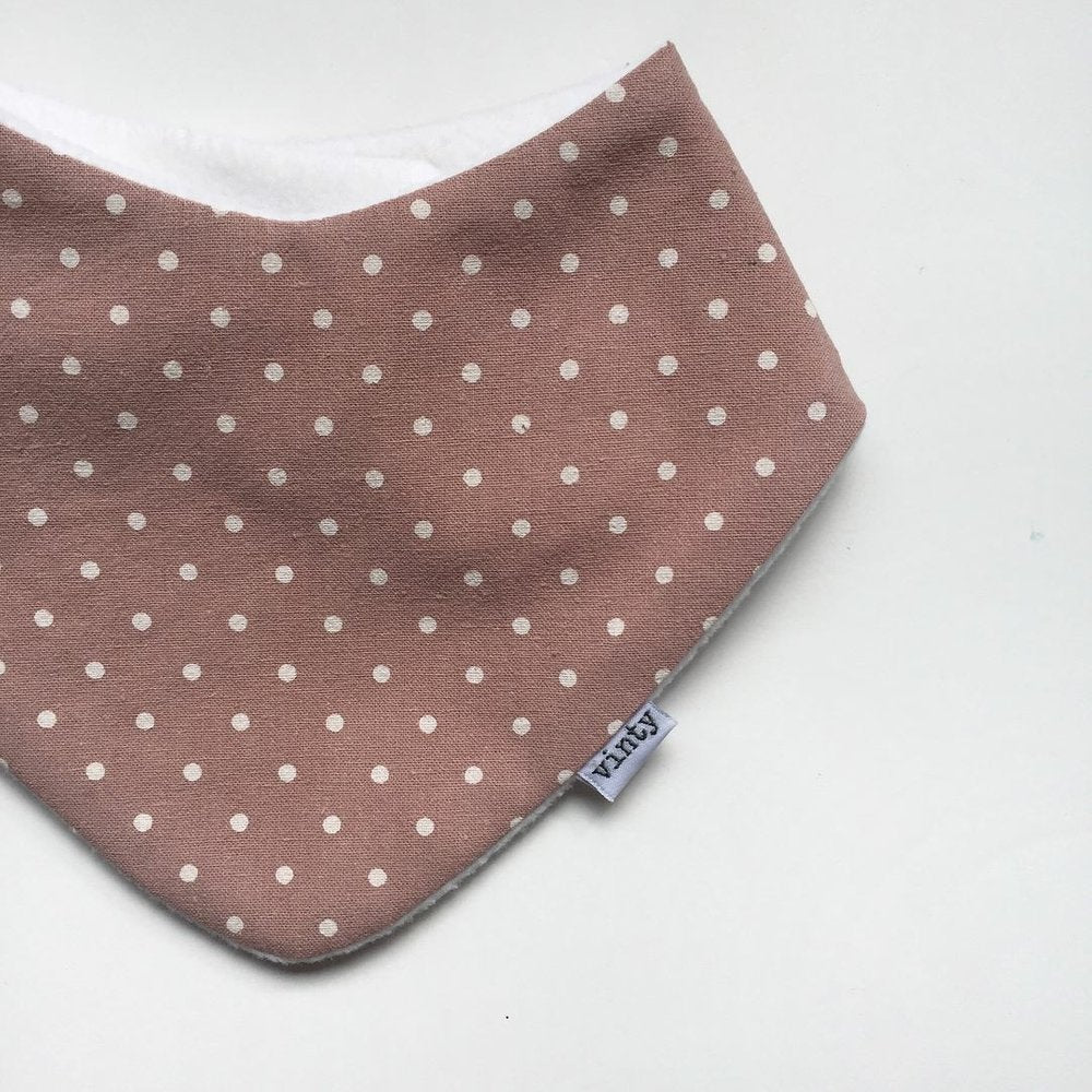 Dusky Dotty Dribble Bib