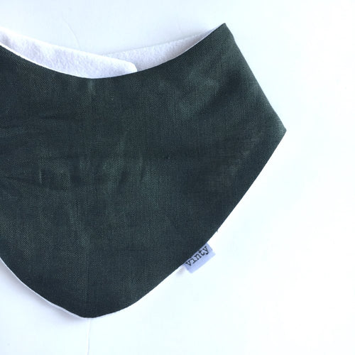 Lovely Linen Forest Dribble Bib