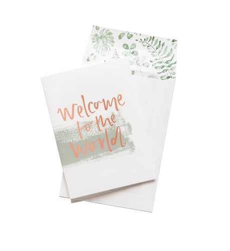Welcome to the World - Greeting Card