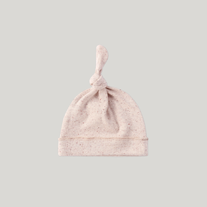 ORGANIC Knotted Hat - Beige Speckled