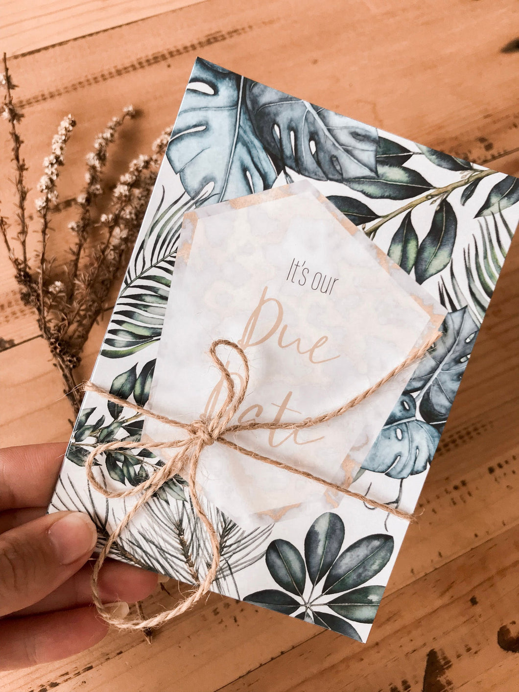 Tropical Gold Pregnancy Milestone Cards