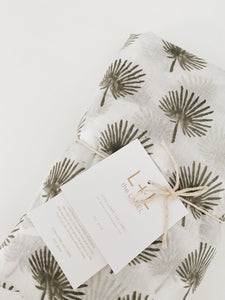 Fan Palm Fitted Cot Sheet
