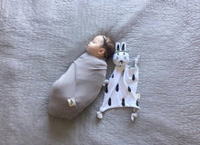 Load image into Gallery viewer, Satin Grey Bamboo Swaddle