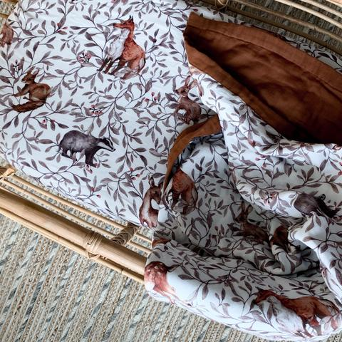 Creatures of the Woods Muslin Sheets