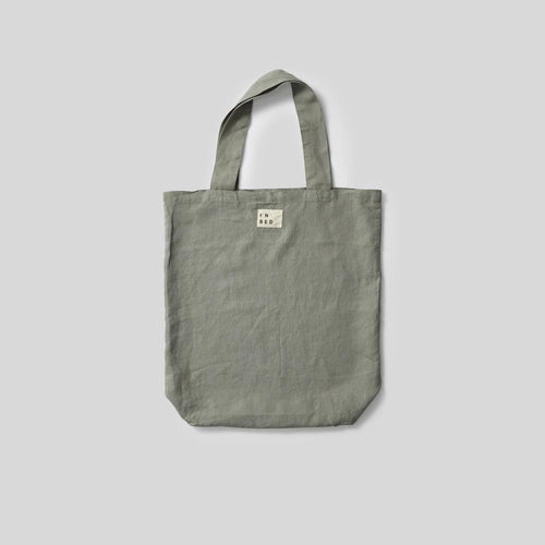 100% Linen Market Bag in Stone