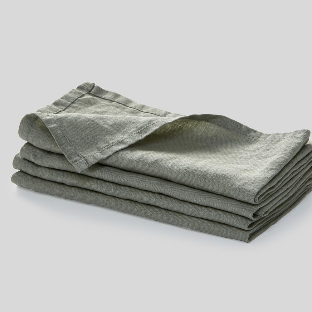 100% Linen Napkin Set in Stone