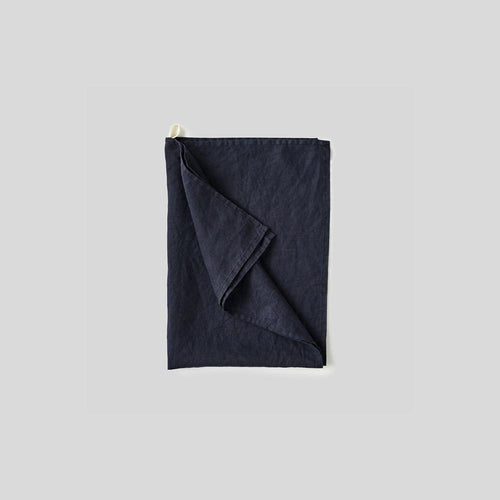 100% Linen Tea Towel in Navy