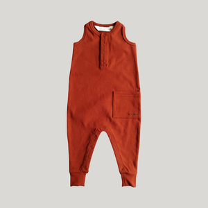 Racerback Jumpsuit - Burnt Orange