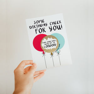 BIRTHDAY BALLOONS SCRATCH CARD