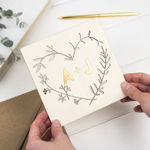 GOLD KEEPSAKE WREATH CARD