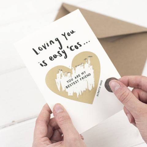 LOVING YOU IS EASY SCRATCH CARD