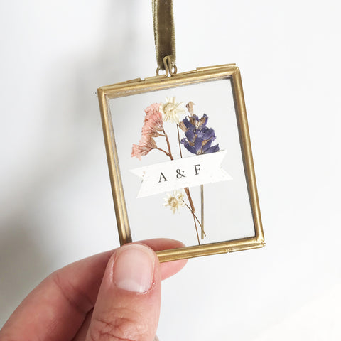 Miniature Framed Dried Flower Bouquet