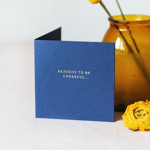 Voice Recordable 'Reasons To Be Cheerful' Card