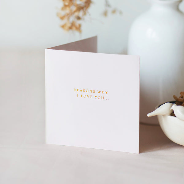 Voice Recordable 'Reasons Why We Love You' Card