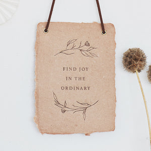 Find Joy Paper Hanging