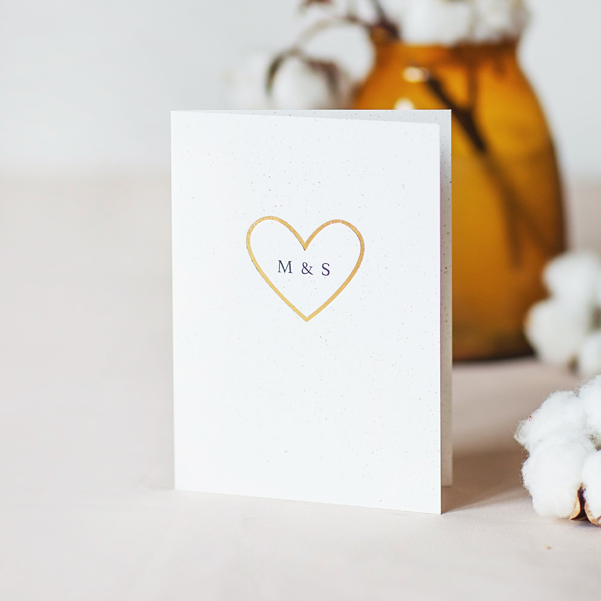 Foiled Heart Card