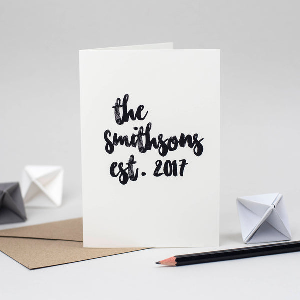 Personalised Wedding Card