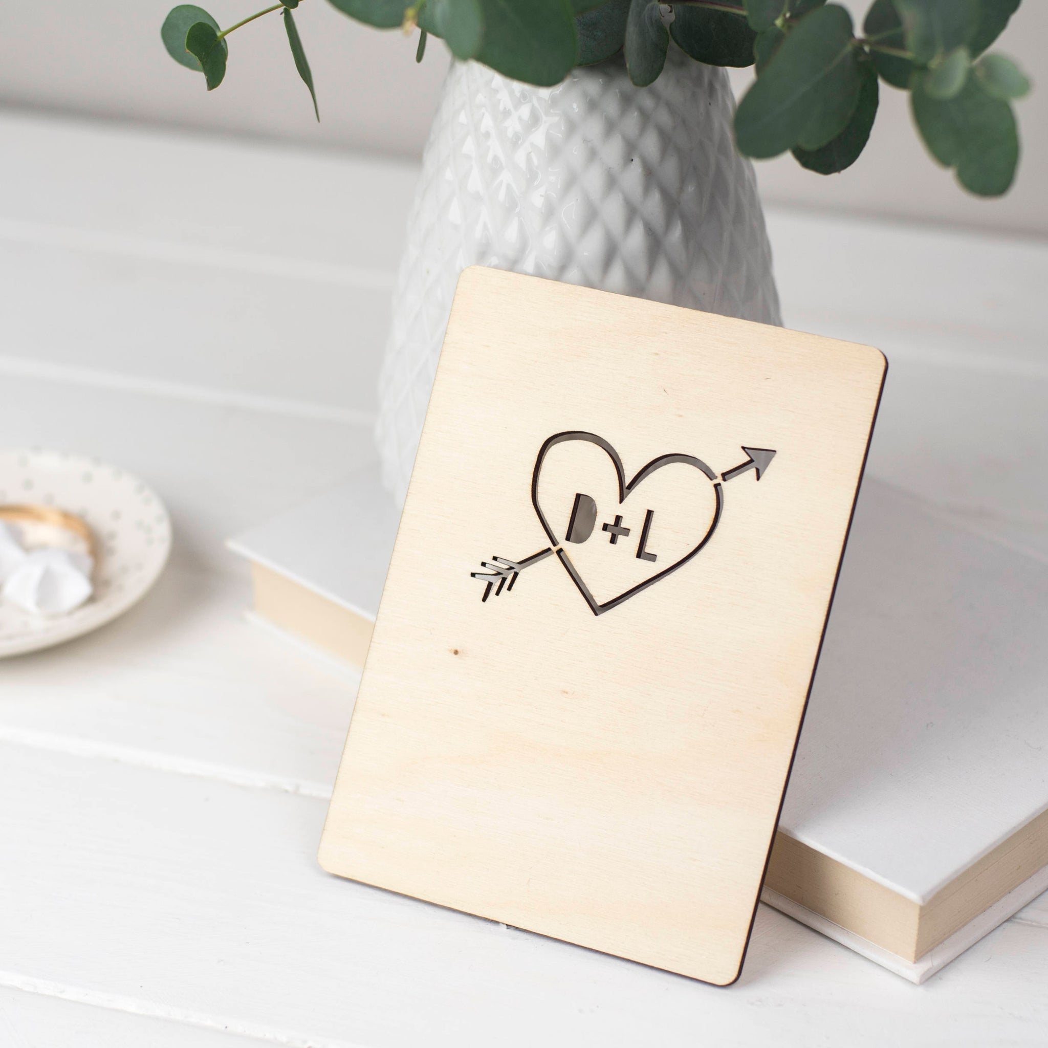 WOODEN HEART CARD