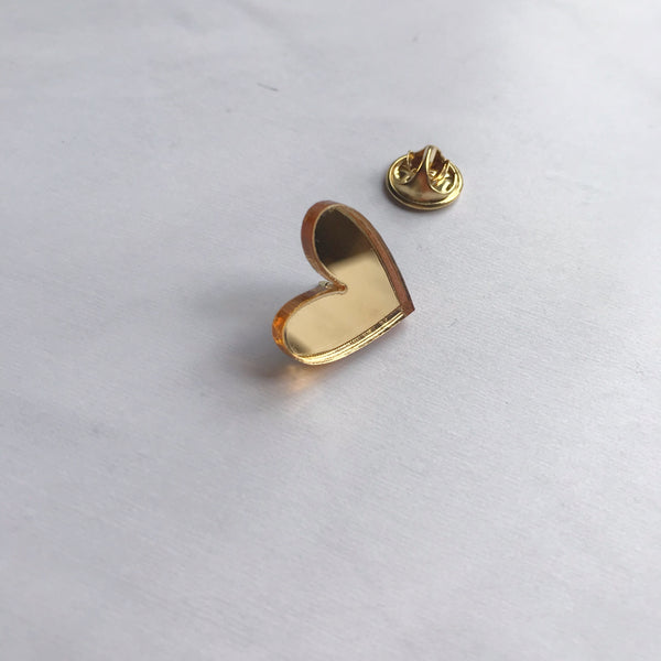 Heart of Gold Pin Badge Card