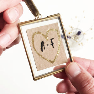 Mini framed love letter