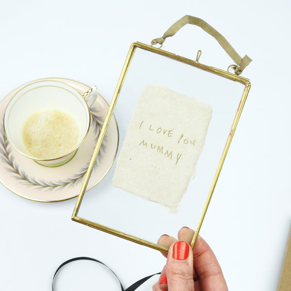 Framed Handwritten Love Letter
