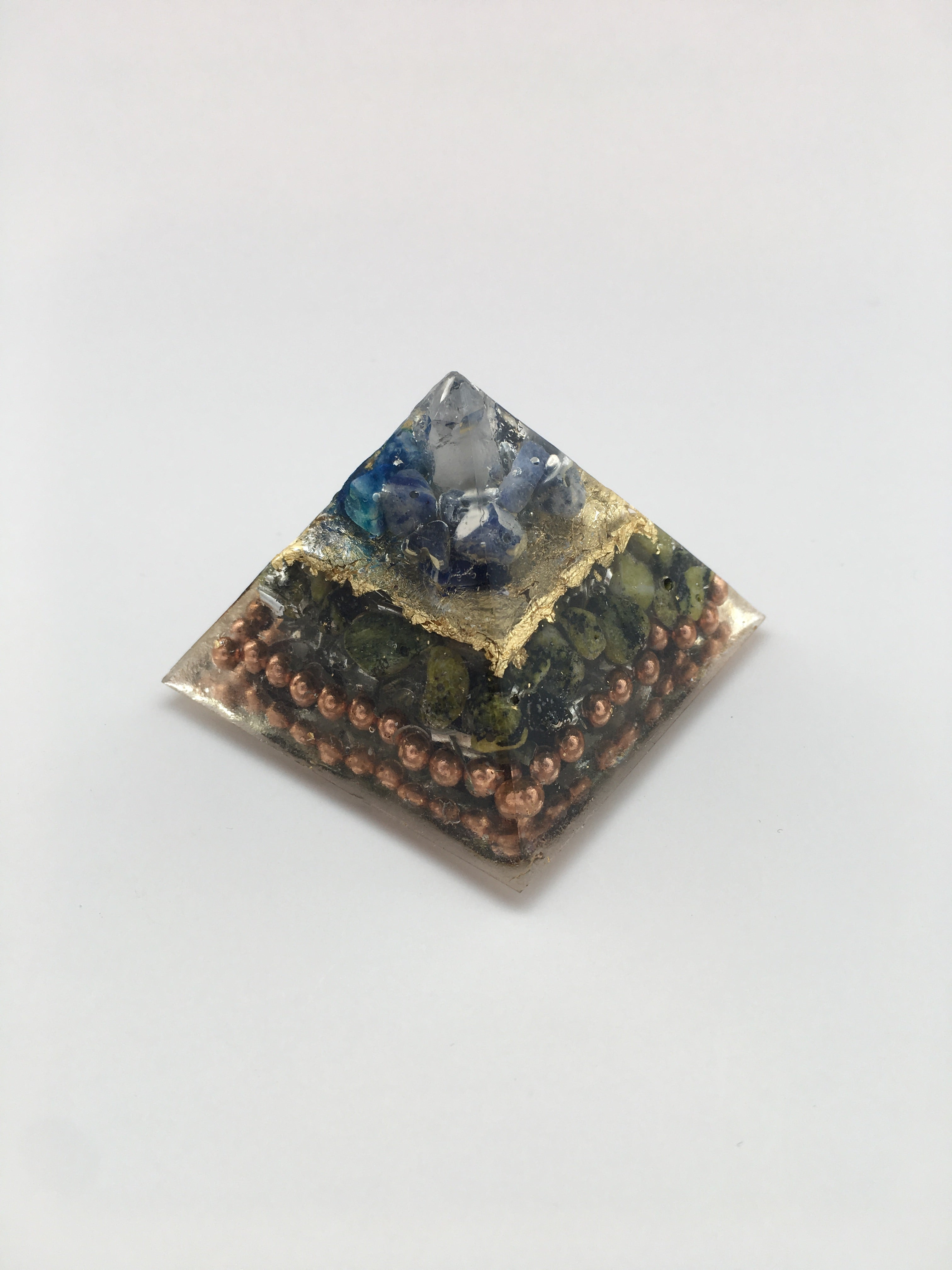 Chi Enhancing Pyramid — Small Sodalite Serpentine