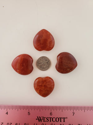 Fire Agate Small Heart