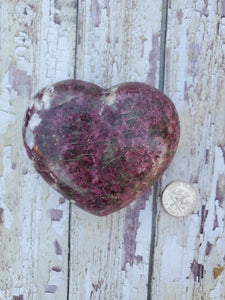 Ruby Tourmaline Heart