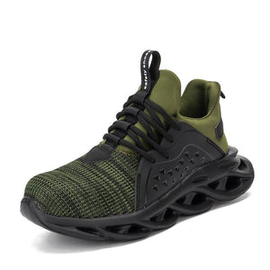 Anti-smashing Safety Shoes Apparel > Male > Shoes > Work Shoes Oak Bay Shoes Green US5.5
