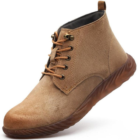 Retro Work Boots Apparel > Male > Shoes > Work Shoes Oak Bay Shoes Brown-L 35
