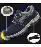 Indestructible Steel Toe Work Shoes for Men Apparel > Male > Shoes > Work Shoes Oak Bay Shoes 5.5 Grey