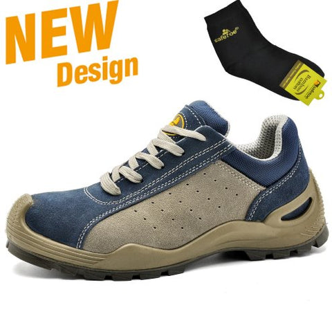 Most Comfortable Work Shoes Apparel > Male > Shoes > Work Shoes Oak Bay Shoes 4 Blue/Grey