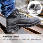 Oakbay Mens' Steel Toe Boots Black Apparel > Male > Shoes > Work Shoes Oak Bay Shoes