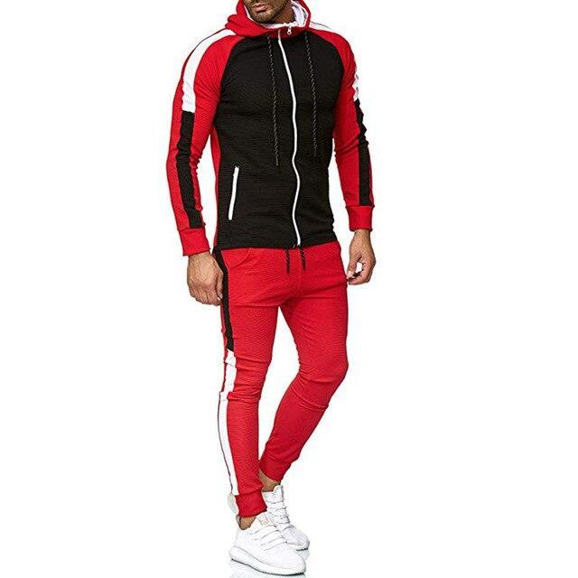 Mens Flora 2 Piece Tracksuit Oakbayshoes Red XS