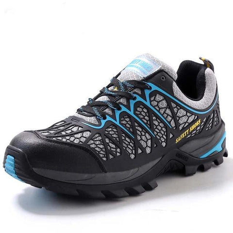 Outdoor Adventure Steel Toe mesh Shoes Apparel > Male > Shoes > Work Shoes Oak Bay Shoes blue 11