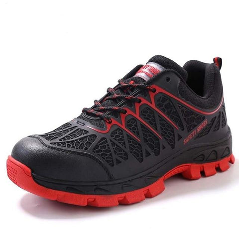 Outdoor Adventure Steel Toe mesh Shoes Apparel > Male > Shoes > Work Shoes Oak Bay Shoes red 11
