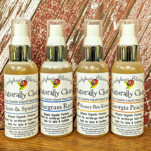 Travel Size Castile Liquid Hand Soap - Naturally Clean