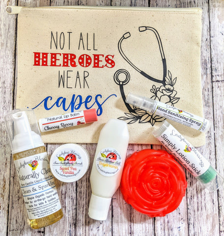 """Not All Heros Wear Capes"" Nurse/Healthcare Appreciation Gift Bag"