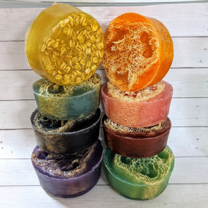"SURPRISE ME Seasonal Loofah Soap ""Spa in a Bag!"" Discount Sets!"