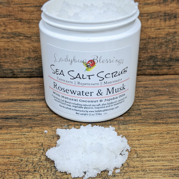 Sea Salt Body Scrub - 12oz Large Size