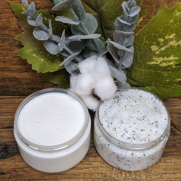 Peppermint Cream & Scrub Set
