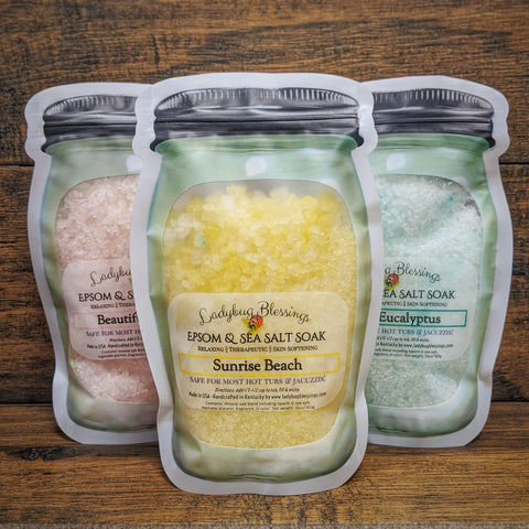 Epsom & Sea Salt Soak - 16 oz *NEW SIZE!*